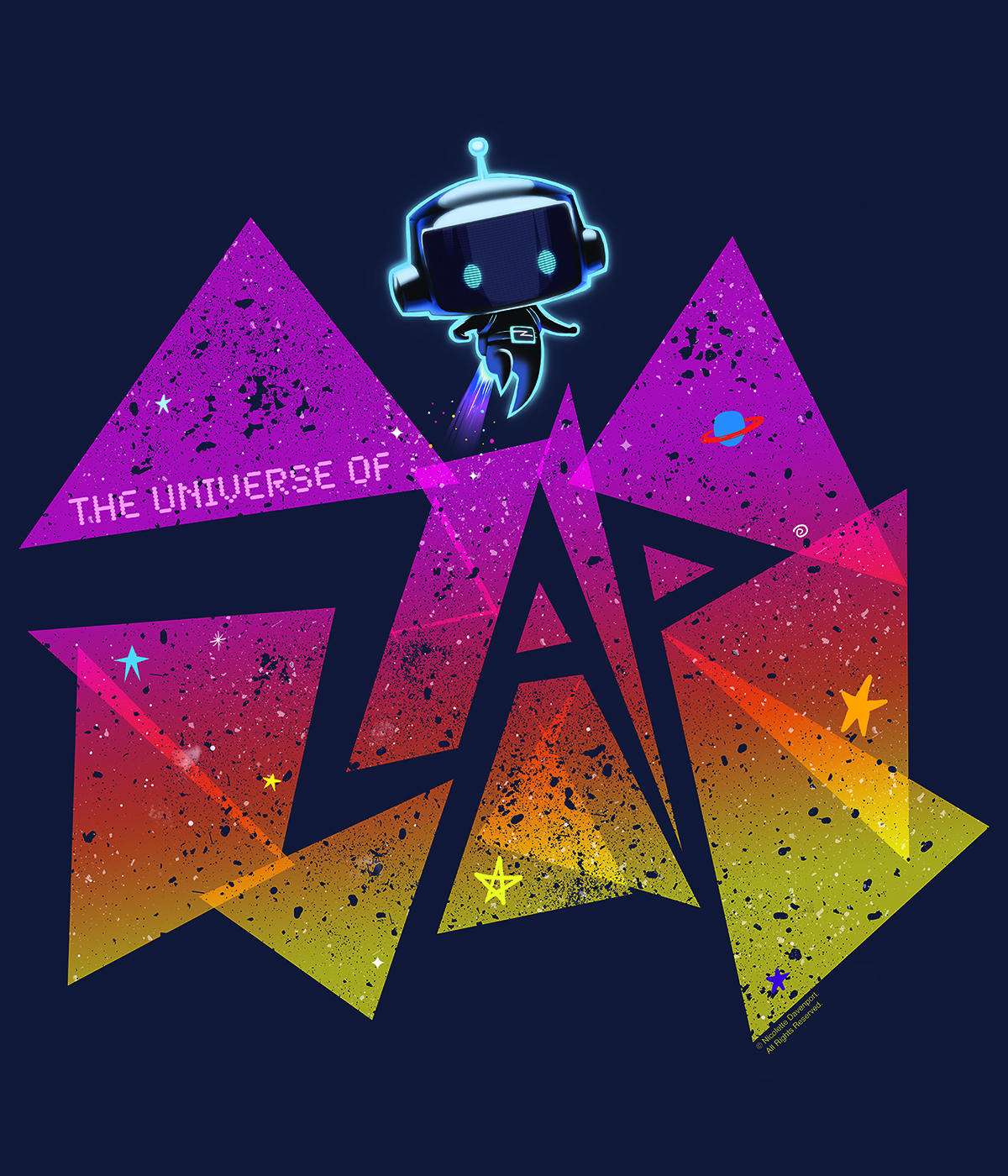 The Universe of ZAP graphic