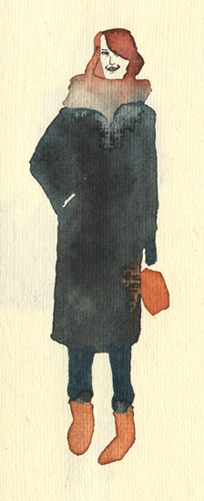 Lady in a coat